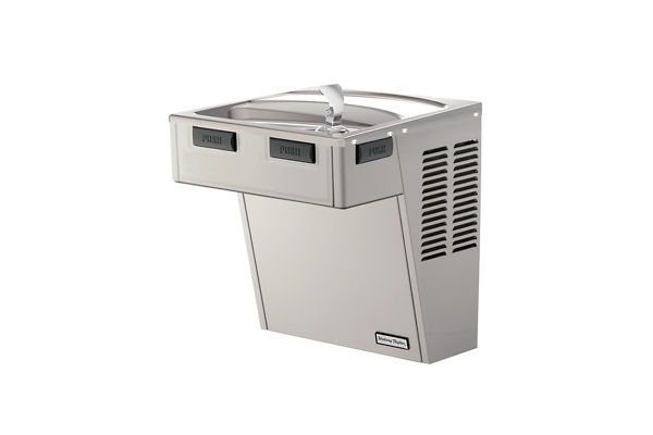 Halsey Taylor Wall Mount GreenSpec ADA Cooler, Non-Filtered 8 GPH Platinum Vinyl