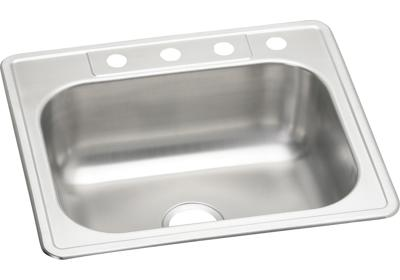 "Image for Elkay Stainless Steel 25"" x 22"" x 8-1/8"", Single Bowl Top Mount Sink from ELKAY"