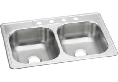 "Image for Elkay Stainless Steel 33"" x 22"" x 7"", Equal Double Bowl Top Mount Sink from ELKAY"