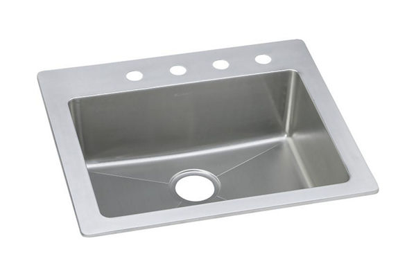 "Elkay Stainless Steel 25"" x 22"" x 8"", Single Bowl Dual Mount Sink"