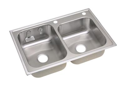 Image for E-dock™ Stainless Steel Double Bowl Top Mount Sink from ELKAY