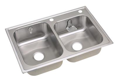 "Image for Elkay Stainless Steel 33"" x 22"" x 8-1/4"", Double Bowl Top Mount Sink Kit from ELKAY"