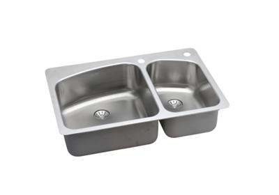 "Image for Elkay Stainless Steel 33"" x 22"" x 8"", 60/40 Double Bowl Dual Mount Sink with Perfect Drain from ELKAY"