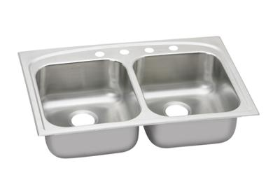 "Image for Elkay Stainless Steel 33"" x 22"" x 8"", Equal Double Bowl Dual Mount Sink from ELKAY"