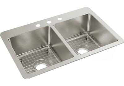 "Image for Elkay Avenue Stainless Steel 33"" x 22"" x 9"" Double Bowl, Dual Mount Sink from ELKAY"