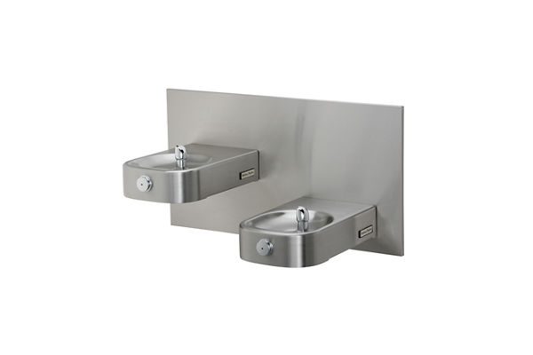 Halsey Taylor Contour Heavy-Duty Bi-Level Fountain, Non-Filtered, Non-Refrigerated, Freeze Resistant, Stainless