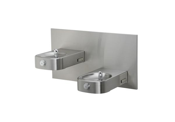 Image for Halsey Taylor Contour Heavy-Duty Bi-Level Fountain, Non-Filtered, Non-Refrigerated, Freeze Resistant, Stainless from Halsey Taylor