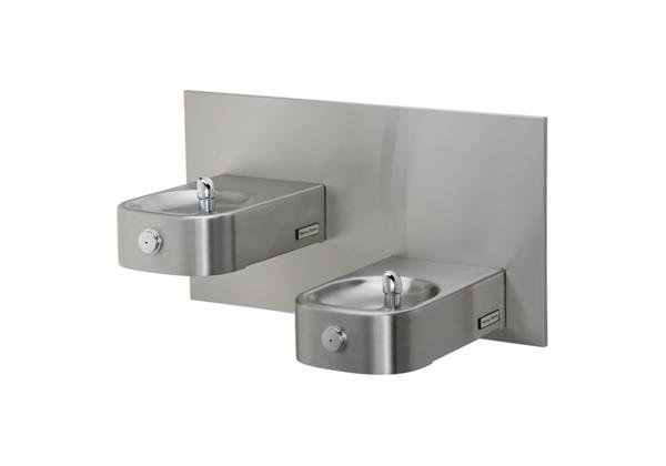 Image for Halsey Taylor Contour Heavy-Duty Bi-Level Fountain, Wall Mount, Non-Filtered, Non-Refrigerated, Stainless from Halsey Taylor