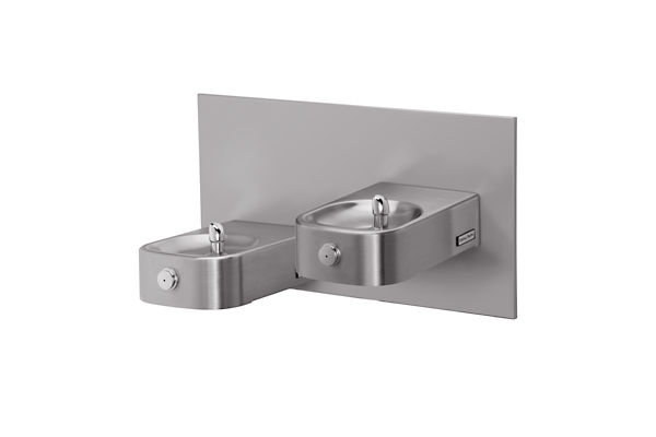 Halsey Taylor Contour Heavy-Duty Bi-Level Reverse Fountain, Non-Filtered Non-Refrigerated Freeze Resistant Stainless
