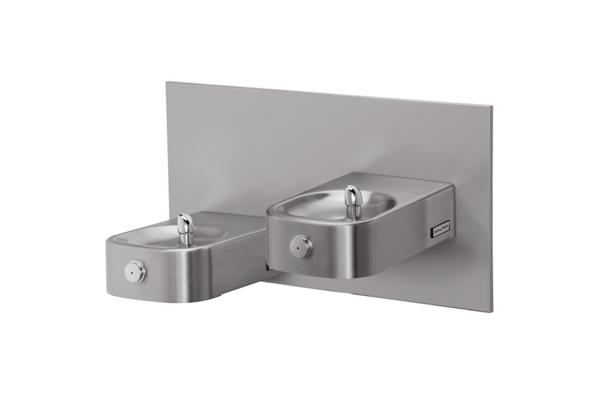 Image for Halsey Taylor Contour Heavy-Duty Bi-Level Reverse Fountain, Wall Mount, Non-Filtered, Non-Refrigerated, Stainless from Halsey Taylor