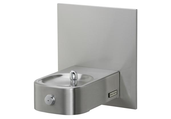 Image for Halsey Taylor Contour Heavy-Duty Single Fountain, Wall Mount, Non-Filtered, Non-Refrigerated, Freeze Resistant, Stainless from Halsey Taylor