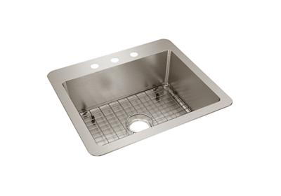 "Image for Elkay Avenue Stainless Steel 25"" x 22"" x 9"" Single Bowl, Dual Mount from ELKAY"