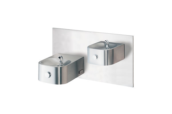 Halsey Taylor Contour Bi-Level Reverse Wall Mount Fountain, Non-Filtered Non-Refrigerated Stainless