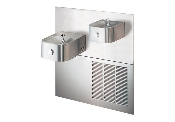 Image for Halsey Taylor Contour Bi-Level Reverse Fountain, Non-Filtered 8 GPH Stainless from Halsey Taylor