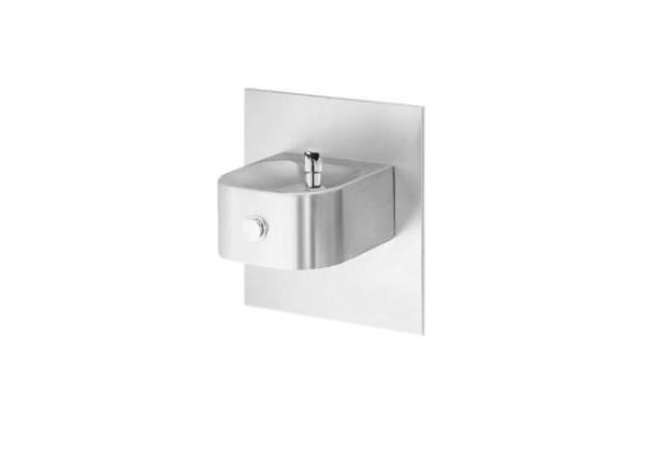 Image for Halsey Taylor Contour Single Fountain, Non-Filtered, Non-Refrigerated, Freeze Resistant, Stainless from Halsey Taylor