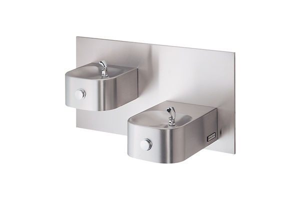 Halsey Taylor Contour Bi-Level Fountain, Non-Filtered Non-Refrigerated Freeze Resistant Stainless