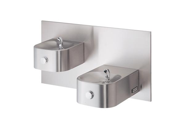 Image for Halsey Taylor Contour Bi-Level Fountain, Non-Filtered, Non-Refrigerated, Stainless from Halsey Taylor