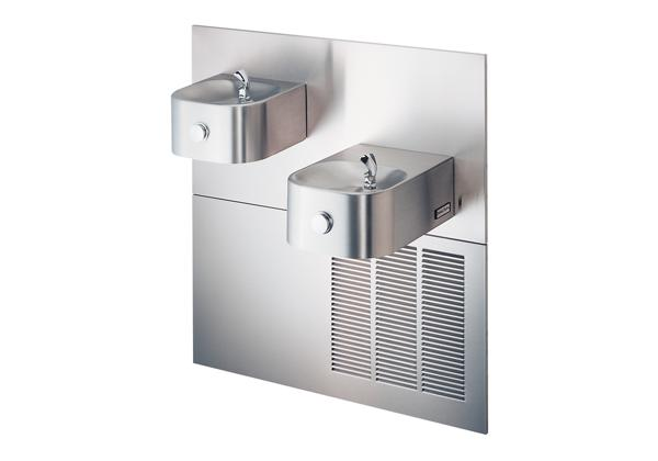Image for Halsey Taylor Contour Bi-Level Fountain, Non-Filtered 8 GPH Stainless from Halsey Taylor