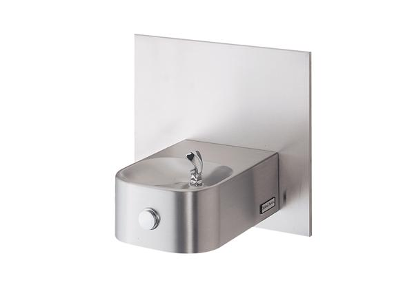 Image for Halsey Taylor Contour Single Wall Mount Fountain, Non-Filtered Non-Refrigerated Stainless from Halsey Taylor