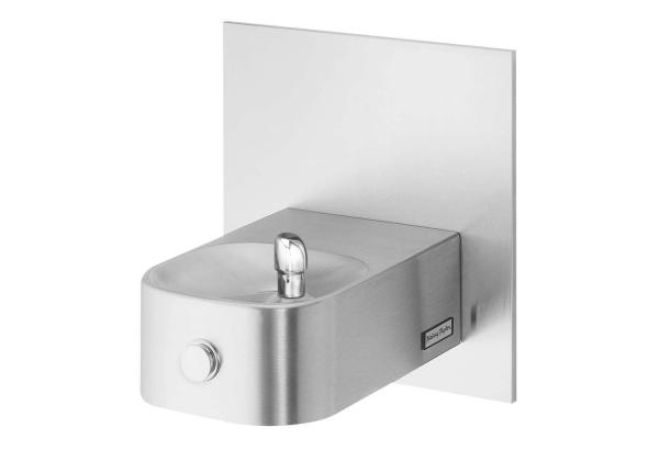 Image for Halsey Taylor Contour Single Wall Mount Fountain, Non-Filtered Non-Refrigerated Freeze Resistant Stainless from Halsey Taylor