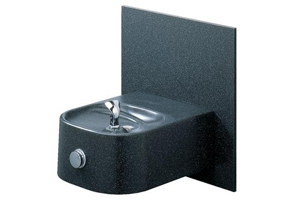 Image for Halsey Taylor Contour Marblyte Single Fountain, Non-Filtered, Non-Refrigerated, Black from Halsey Taylor