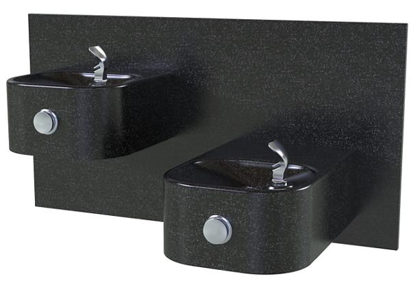 Image for Halsey Taylor Contour Marblyte Bi-Level Fountain, Non-Filtered, Non-Refrigerated, Black from Halsey Taylor