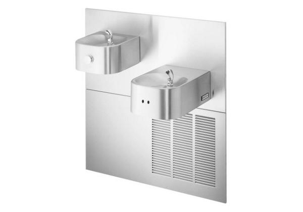 Image for Halsey Taylor Contour Fountain, Bi-Level, Hands-Free, Non-Filtered, 8 GPH, Stainless from Halsey Taylor