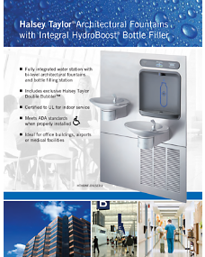 HT-0028 Architectural Fountains with Integral Hydroboost Bottle Filler (9/2013)
