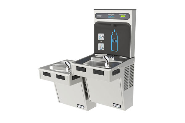 Halsey Taylor HydroBoost Bottle Filling Station with Bi-Level Reverse ADA Cooler, Non-filtered, 8 GPH, Stainless