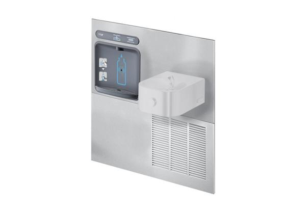 Image for Halsey Taylor HydroBoost Bottle Filling Station with RetroFit Contour Fountain, Non-filtered, 8 GPH, Stainless from Halsey Taylor