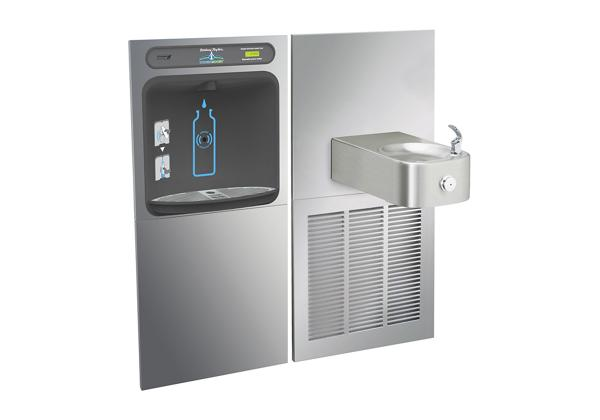 Image for Halsey Taylor HydroBoost In-Wall Bottle Filling Station, & Contour Fountain, Non-Filtered 8 GPH Stainless from Halsey Taylor