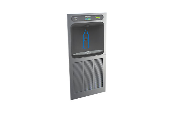 Halsey Taylor HydroBoost In-Wall Bottle Filling Station, Filtered 8 GPH Stainless