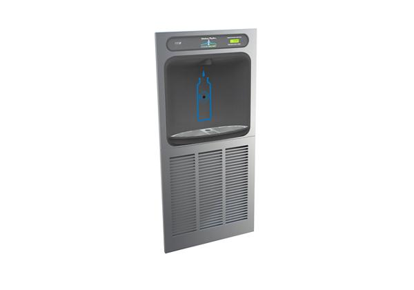 Image for Halsey Taylor HydroBoost Bottle Filling Station In-Wall with Green Chiller, Non-filtered, 8 GPH, Stainless from Halsey Taylor