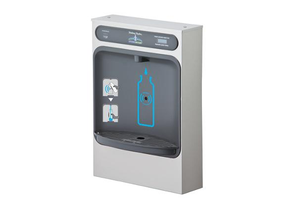 Image for Halsey Taylor HydroBoost Bottle Filling Station Surface Mount, Filtered, Non-refrigerated, Stainless from Halsey Taylor