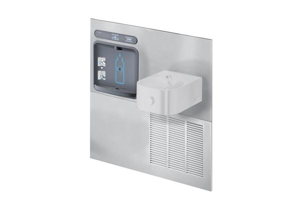 Image for Halsey Taylor HydroBoost Retrofit Bottle Filling Station, & Contour Fountain, Filtered 8 GPH Stainless from Halsey Taylor