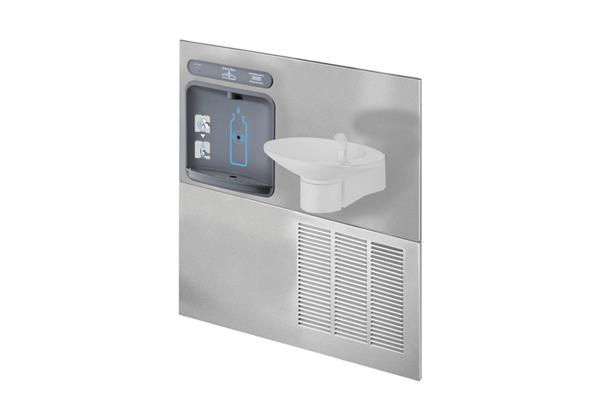 Image for Halsey Taylor HydroBoost Bottle Filling Station with Retrofit OVL-II Fountain, Filtered, 8 GPH, Stainless from Halsey Taylor