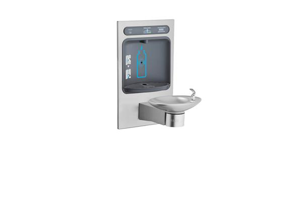 Image for Halsey Taylor HydroBoost Bottle Filling Station, & Integral OVL-II Fountain, Filtered Non-Refrigerated Stainless from Halsey Taylor