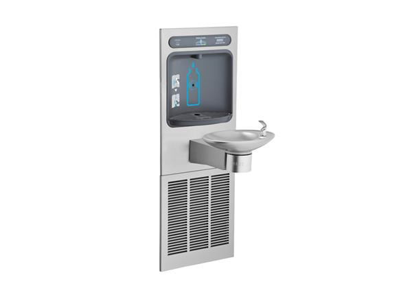Image for Halsey Taylor HydroBoost Bottle Filling Station, & Integral OVL-II Fountain, Filtered 8 GPH Stainless from Halsey Taylor