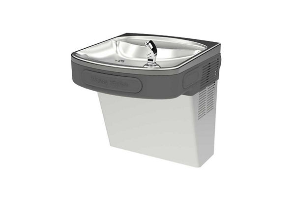 Halsey Taylor Wall Mount ADA Cooler, Filtered Non-Refrigerated Platinum Vinyl