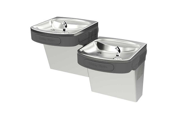 Halsey Taylor Versatile Wall Mount Bi-Level ADA Cooler, Non-Filtered Non-Refrigerated Stainless