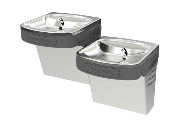 Image for Halsey Taylor Versatile Wall Mount Bi-Level ADA Cooler, Non-Filtered Non-Refrigerated Platinum Vinyl from Halsey Taylor