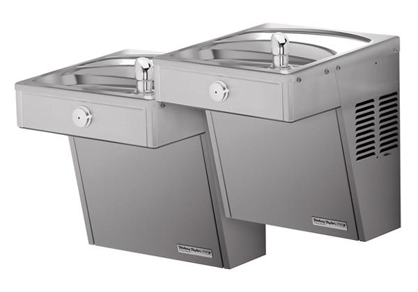 Image for Halsey Taylor Wall Mount Vandal-Resistant Bi-Level Reverse, ADA Cooler Non-Filtered Non-Refrigerated Stainless from Halsey Taylor