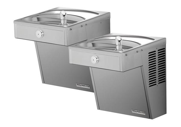Image for Halsey Taylor Wall Mount Vandal-Resistant Bi-Level ADA Cooler, Frost Resistant Non-Filtered Non-Refrigerated Stainless from Halsey Taylor