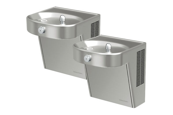 Halsey Taylor Cooler, Wall Mount, Bi-Level, ADA, Filtered, 8 GPH, Stainless