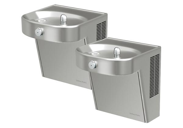 Image for Halsey Taylor Wall Mount Bi-Level ADA Cooler, Filtered 8 GPH Stainless from Halsey Taylor