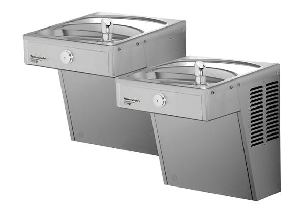 Image for Halsey Taylor Wall Mount Vandal-Resistant GreenSpec Bi-Level, ADA Cooler Non-Filtered 8 GPH Stainless from Halsey Taylor