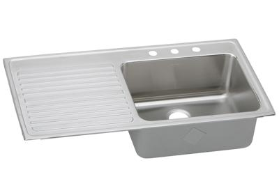 "Image for Elkay Gourmet Stainless Steel 43"" x 22"" x 10"", Single Bowl Top Mount Sink from ELKAY"