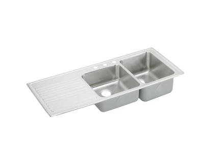 "Image for Elkay Gourmet Stainless Steel 54"" x 22"" x 10"", Double Bowl Top Mount Sink from ELKAY"