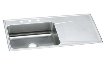 "Image for Elkay Lustertone Classic Stainless Steel 43"" x 22"" x 7-5/8"", Single Bowl Drop-in Sink with Drainboard from ELKAY"