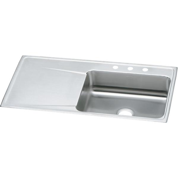 Perfect Elkay Lustertone Classic Stainless Steel 43u0026#34; X 22u0026#34; X 7 5/8u0026#34;,  Single Bowl Drop In Sink With Drainboard | ELKAY
